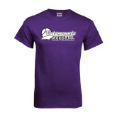 Purple T Shirt-Softball Script Design