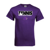 Purple T Shirt-Tennis Player Design