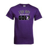 Purple T Shirt-Tee Off Golf Design