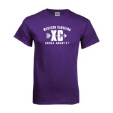 Purple T Shirt-Cross Country Design