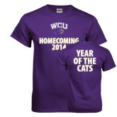 Purple T Shirt-WCU Homecoming 2014