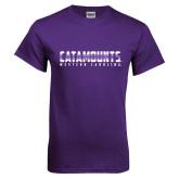 Purple T Shirt-Catamounts Gradient