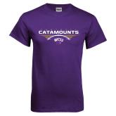 Purple T Shirt-Football Abstract Ball