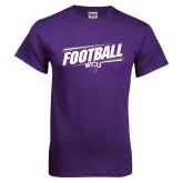 Purple T Shirt-Football Fancy Lines