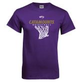 Purple T Shirt-Basketball Net Design