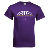 Purple T Shirt-Basketball Half Ball