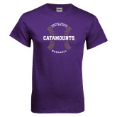 Purple T Shirt-Baseball Seams Design