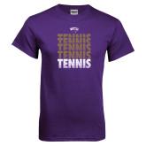 Purple T Shirt-Tennis Repeating