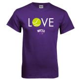 Purple T Shirt-Love Tennis
