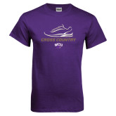 Purple T Shirt-Cross Country Shoe Design
