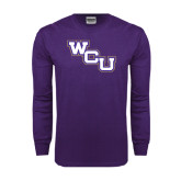 Purple Long Sleeve T Shirt-WCU