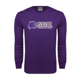 Purple Long Sleeve T Shirt-Track and Field