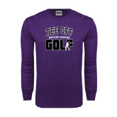 Purple Long Sleeve T Shirt-Tee Off Golf Design