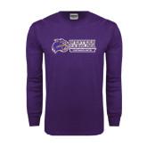 Purple Long Sleeve T Shirt-Western Carolina Catamounts Side Logo