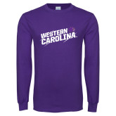 Purple Long Sleeve T Shirt-Western Carolina Slashes