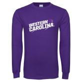 Purple Long Sleeve T Shirt-Western Carolina Slashes