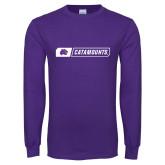 Purple Long Sleeve T Shirt-Catamounts in Box