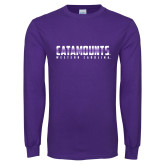 Purple Long Sleeve T Shirt-Catamounts Gradient