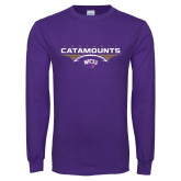 Purple Long Sleeve T Shirt-Football Abstract Ball