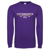Purple Long Sleeve T Shirt-Football Abstract Ball
