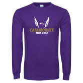 Purple Long Sleeve T Shirt-Wings Track and Field