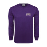 Purple Long Sleeve T Shirt-Western Carolina Catamounts