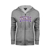 ENZA Ladies Grey Fleece Full Zip Hoodie-Western Carolina Catamounts