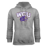 Champion Grey Fleece Hood-WCU w/Head