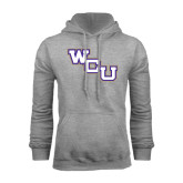 Grey Fleece Hoodie-WCU