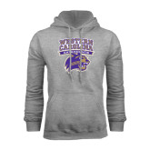 Champion Grey Fleece Hood-Western Carolina Catamounts Stacked