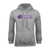 Champion Grey Fleece Hood-Western Carolina Catamounts Side Logo