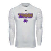 Under Armour White Long Sleeve Tech Tee-Tennis Player Design