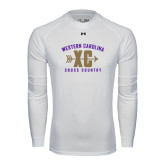 Under Armour White Long Sleeve Tech Tee-Cross Country Design