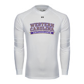Under Armour White Long Sleeve Tech Tee-Western Carolina Catamounts