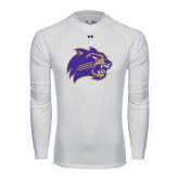 Under Armour White Long Sleeve Tech Tee-Catamount Head