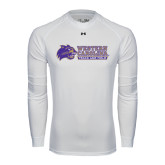 Under Armour White Long Sleeve Tech Tee-Track and Field