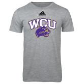 Adidas Sport Grey Logo T Shirt-WCU w/Head
