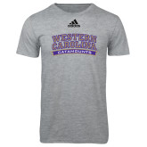 Adidas Sport Grey Logo T Shirt-Western Carolina Catamounts