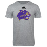 Adidas Sport Grey Logo T Shirt-Catamount Head