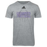 Adidas Sport Grey Logo T Shirt-Adidas Catamounts Football Logo