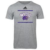 Adidas Sport Grey Logo T Shirt-Adidas WCU Logo