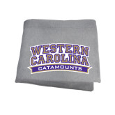 Grey Sweatshirt Blanket-Western Carolina Catamounts