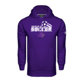 Under Armour Purple Performance Sweats Team Hoodie-Soccer Swoosh Design