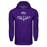 Under Armour Purple Performance Sweats Team Hood-Track and Field Shoe Design