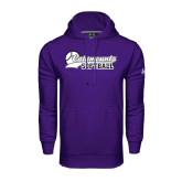 Under Armour Purple Performance Sweats Team Hood-Softball Script Design