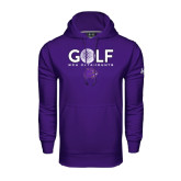 Under Armour Purple Performance Sweats Team Hood-Golf Ball Design
