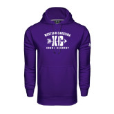 Under Armour Purple Performance Sweats Team Hood-Cross Country Design