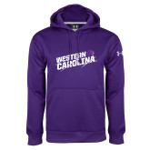 Under Armour Purple Performance Sweats Team Hoodie-Western Carolina Slashes