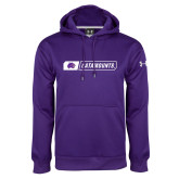 Under Armour Purple Performance Sweats Team Hoodie-Catamounts in Box