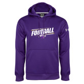 Under Armour Purple Performance Sweats Team Hoodie-Football Fancy Lines